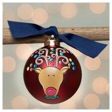 Reindeer Glass Ball Ornament