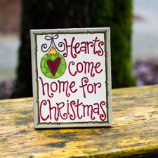 Hearts Come Home Table Top Canvas