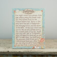 Footprints In The Sand Wall Decor