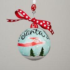 Elf To Santa I'll Fly Ball Ornament