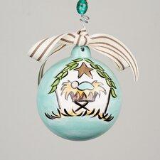 Joy to the World Nativity Ball Ornament