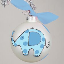 Baby's First Elephant Glass Ornament