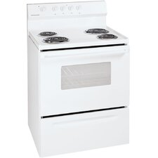 4.2 Cu. Ft. Electric Convection Range in White