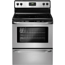 4.8 Cu. Ft. Electric Convection Range in Stainless Steel
