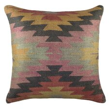Aztec Burlap Throw Pillow
