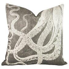 Octopus Cotton Throw Pillow