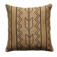 Tribal Stripes Burlap Throw Pillow