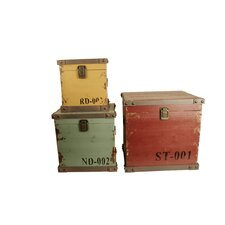 3 Piece Storage Chest Set