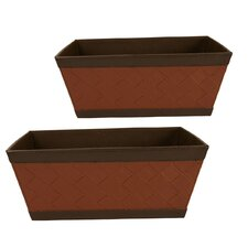 2 Piece Copper and Brown Faux Leather Sided Tote Set (Set of 2)
