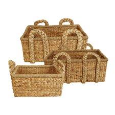 3 Piece Rectangle Home Decor Basket Set