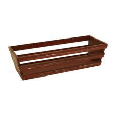 Red Weathered Wooden Storage Crate (Set of 3)