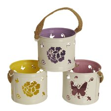 3 Piece Round Pot Cover Set