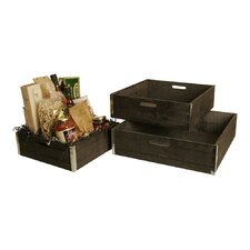 3 Piece Wood Crate Set