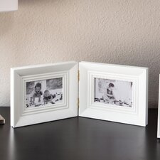 Rectangular Wood Double Picture Frame