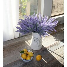 Artificial Flower Lavender Bouquet for Home Decor and Wedding Decoration (Set of 8)