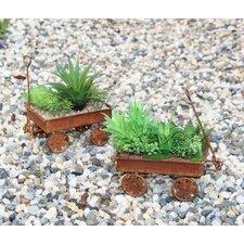 Decorative Wagons Garden Planter Desert for Home (Set of 2)