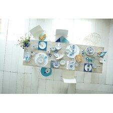 18-tlg. Kaffee-Set Blau Saks aus Porzellan