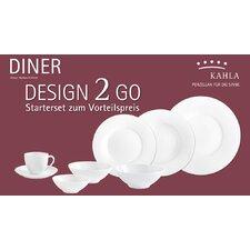 14-tlg. Kombiservice Diner aus Porzellan