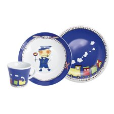 3-tlg. Kindergeschirr Magic Grip Kitchen aus Porzellan