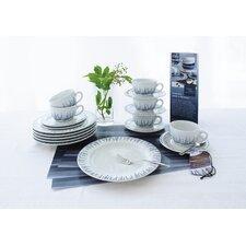 18-tlg. Kaffee-Set Pronto - Wir Machen Blau aus Porzellan