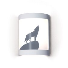 Silhouette Lone Wolf 1 Light Wall Sconce