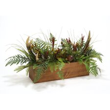 Woodland Table Centerpiece in Pine Box