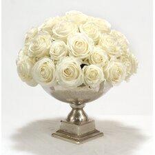 White Roses in Urn