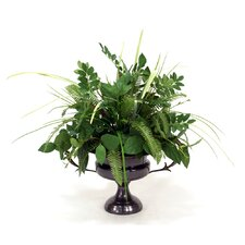 Mixed Greenery Floor Plant in Decorative Vase