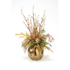 Branches and Leaves in Round Vase