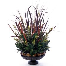 Horsetail with Grasses and Foliage Desk Top Plant in Pot