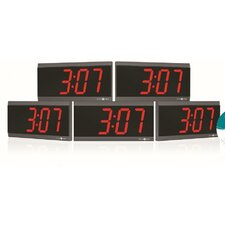 Power Over Ethernet Digital Wall Clock (Set of 5)