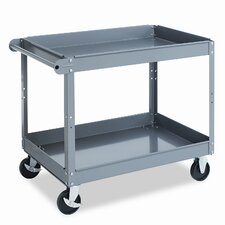 Two-Shelf Metal Utility Cart