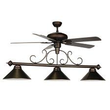 3 Light Billiard Light with Ceiling Fan