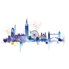London Skyline by Summer Thornton Canvas Wall Art