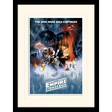Gerahmtes Poster Star Wars The Empire Strikes Back One Sheet, Retro-Werbung