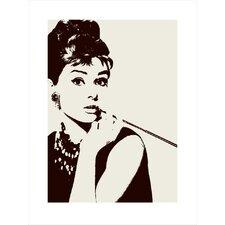Wandkunst Cigarello Audrey Hepburn