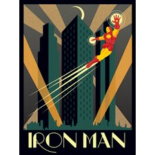 Marvel Deco, Iron Man Vintage Advertisement Canvas Wall Art