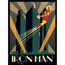 Marvel Deco, Iron Man Vintage Advertisement Canvas Wall Art