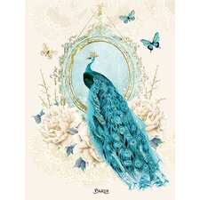 Peacock by Wendy Paula Patterson Graphic Art on Canvas