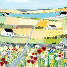 Bright Meadow by Janet Bell Canvas Wall Art