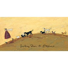 Walking Down To Happiness by Sam Toft Canvas Wall Art