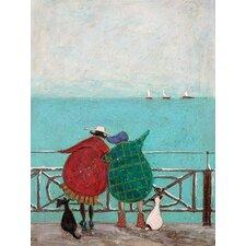 "Leinwandkunst ""We Saw Three Ships Come Sailing By"" von Sam Toft"