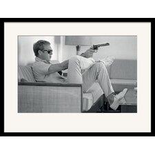 Gerahmtes Poster Time Life Steve McQueen Takes Aim, Fotodruck