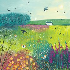 Midsummer Meadow by Jo Grundy Canvas Wall Art