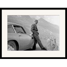 Gerahmtes Poster James Bond Aston Martin, Fotodruck