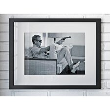 Gerahmtes Poster Time Life Steve McQueen Takes Aim, Fotodruck