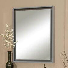 """Harper 30"""" X 38"""" Framed Floating Glass Mirror"""