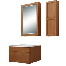"Lincoln 24"" Single Bathroom Vanity Set with Integrated Sink"