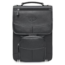 Premium Leather Laptop Flight Case with Backpack