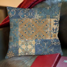 Moroccan Patchwork Printed Throw Pillow